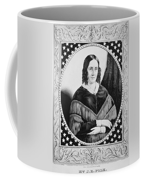 1846 Coffee Mug featuring the painting Sarah Childress Polk (1803-1891) by Granger