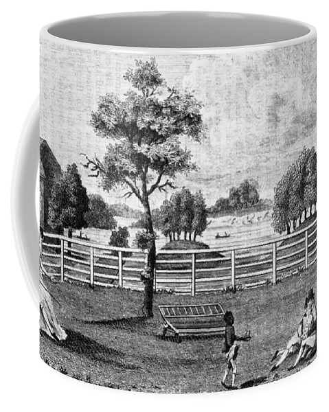 1794 Coffee Mug featuring the painting Saratoga, New York, 1794 by Granger