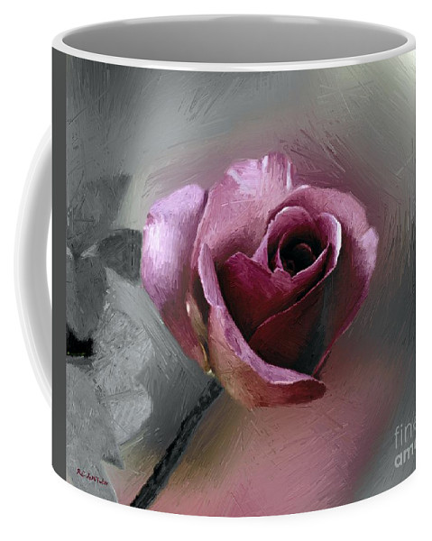 Flower Coffee Mug featuring the painting Satin Doll by RC DeWinter