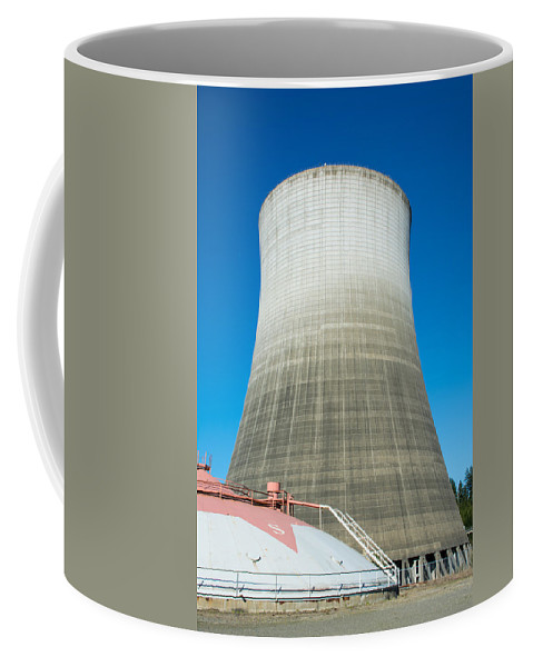 Nuclear Coffee Mug featuring the photograph Satsop Ghost Tower by Tikvah's Hope