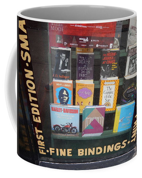 Window Coffee Mug featuring the photograph Savannah Book Store by Terry Cobb