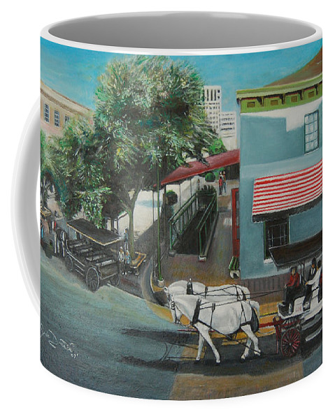 Coffee Mug featuring the painting Savannah City Market by Jude Darrien