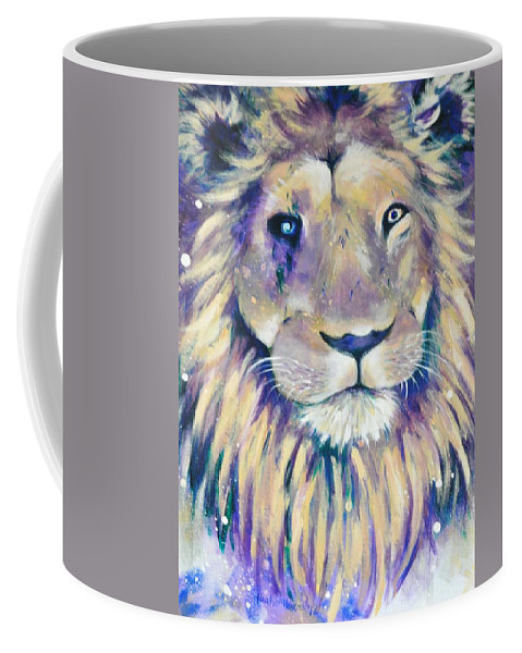 Lion Coffee Mug featuring the painting Scarface by Heather Hancock
