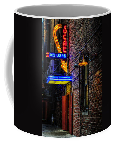 Scat Lounge Coffee Mug featuring the photograph Scat Lounge Living Color by Joan Carroll