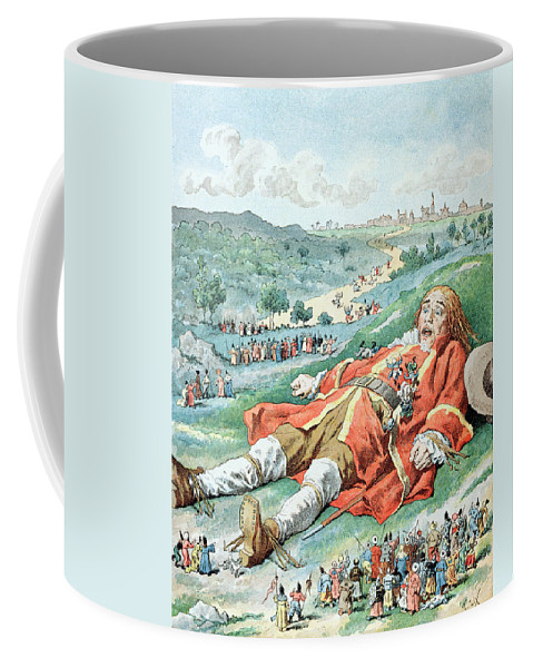 'gulliver's Travels' Coffee Mug featuring the painting Scene From Gullivers Travels by Frederic Lix