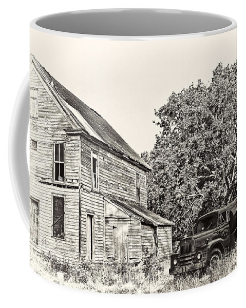 Oil Truck Coffee Mug featuring the photograph Scene From The Past by Marcia Colelli
