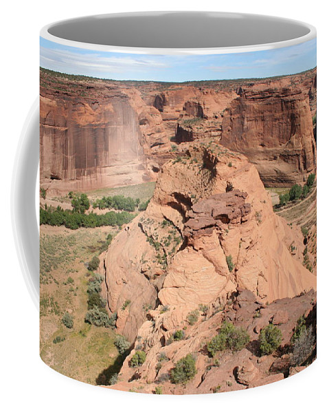 Canyon Coffee Mug featuring the photograph Scenic Canyon De Chelly by Christiane Schulze Art And Photography