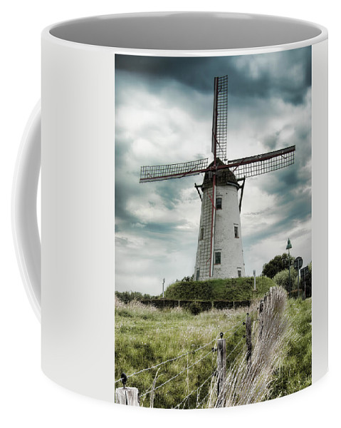 Damme Windmill Coffee Mug featuring the photograph Schellemolen Windmill by Phyllis Taylor