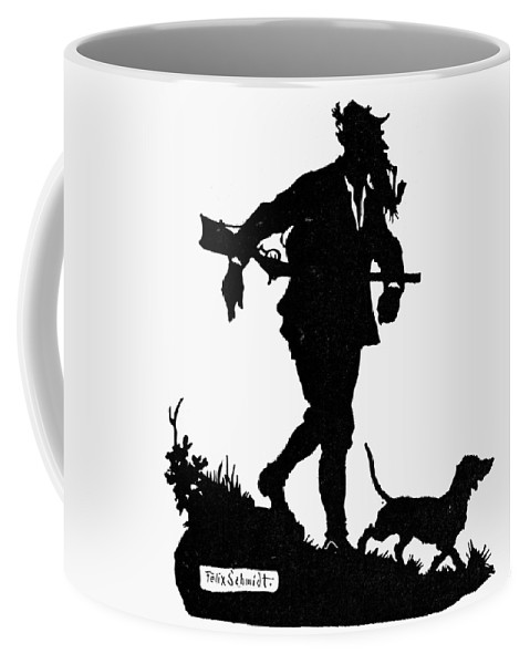 19th Century Coffee Mug featuring the painting Schmidt The Hunter by Granger