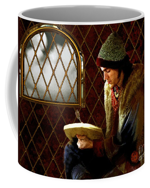 Portrait Coffee Mug featuring the painting Scholar By Moonlight by RC DeWinter