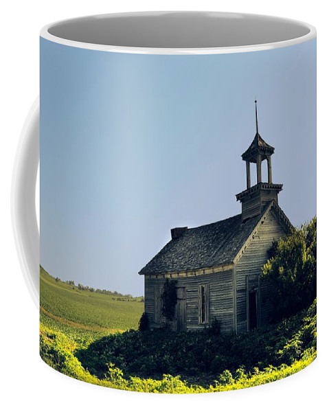 School Coffee Mug featuring the photograph School House 66 by Bonfire Photography