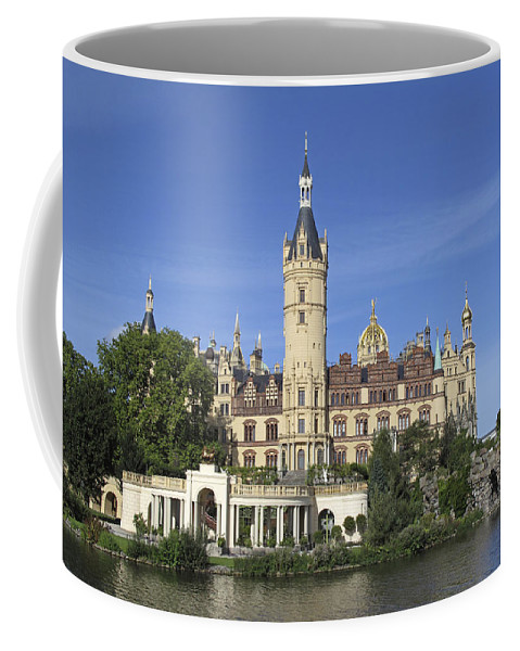 Blue Sky Coffee Mug featuring the photograph Schwerin Castle by Claudio Bacinello