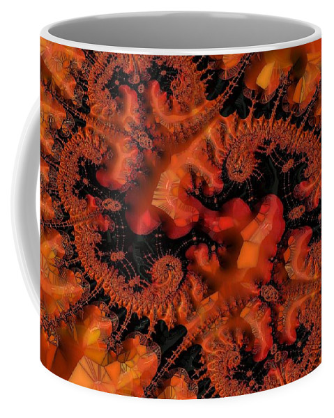 Abstract Coffee Mug featuring the digital art Colored Kelp by Ron Bissett