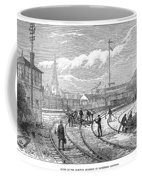 1883 Coffee Mug featuring the painting Scotland Train Crash by Granger