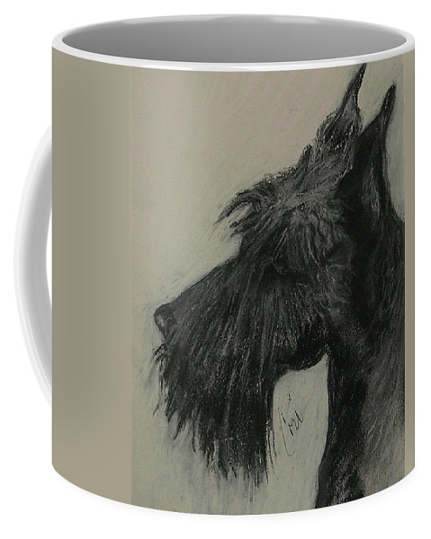 Drawing Coffee Mug featuring the drawing Scottish Delight by Cori Solomon