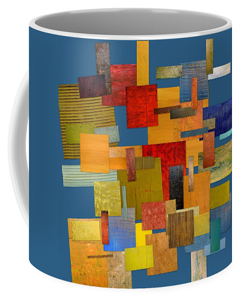 Textural Coffee Mug featuring the painting Scrambled Eggs Lv by Michelle Calkins