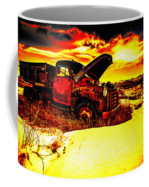 Car Coffee Mug featuring the photograph Junk In The Afternoon Sun by Lyriel Lyra