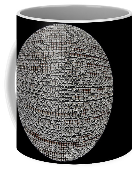 Window Coffee Mug featuring the photograph Screen Orb-06 by Larry Jost