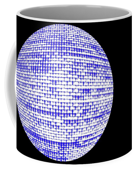 Window Coffee Mug featuring the photograph Screen Orb-09 by Larry Jost