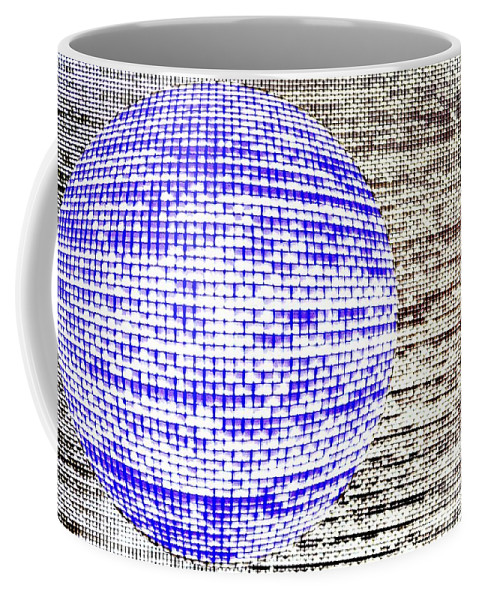 Window Coffee Mug featuring the photograph Screen Orb-30 by Larry Jost