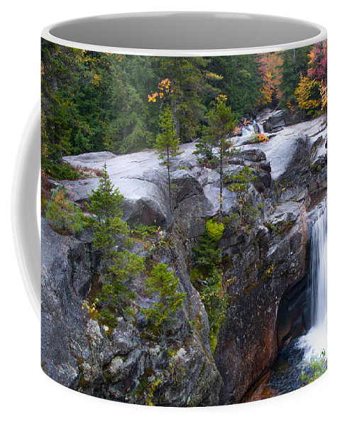Grafton Notch Maine Coffee Mug featuring the photograph Screw Auger Falls by Guy Whiteley