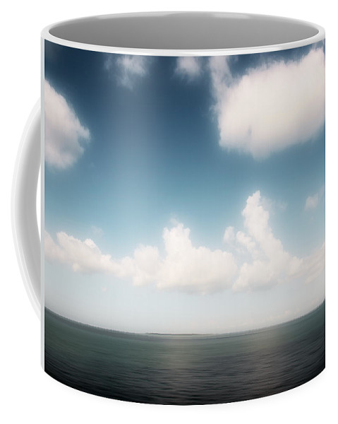 Seascape Coffee Mug featuring the photograph Sea And Sky - Clouds And Horizon by Alexander Voss