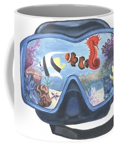 Coffee Mug featuring the painting Sea Beneath The Surface by Stephanie Hatfalvi