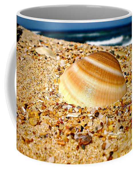 Photography Coffee Mug featuring the photograph Sea Beyond The Shell by Kaye Menner