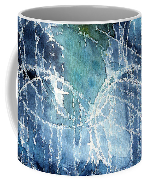 Abstract Painting Coffee Mug featuring the painting Sea Spray by Linda Woods