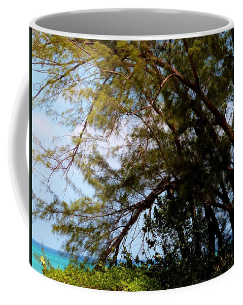 Color Coffee Mug featuring the photograph Sea Through Trees by Amar Sheow