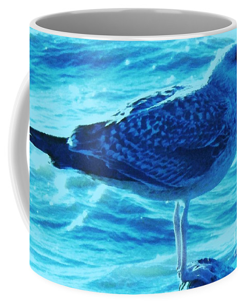 Animals Coffee Mug featuring the photograph Seagull Basking In The Sun by Eric Schiabor