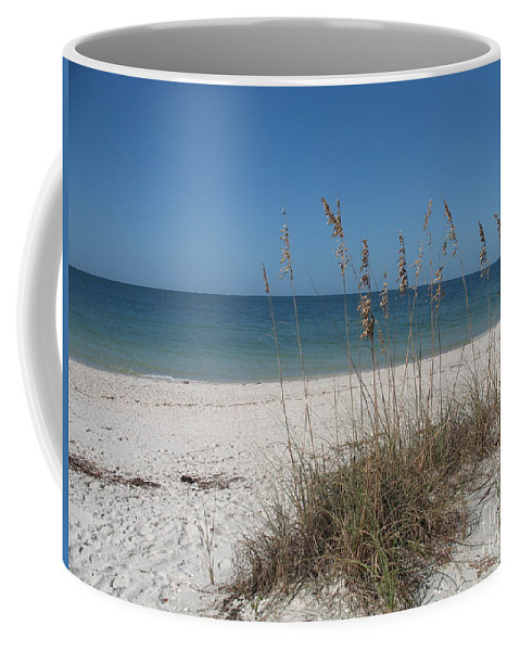 Sea Coffee Mug featuring the photograph Seaoats And Beach by Christiane Schulze Art And Photography
