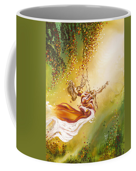 Karina Llergo Coffee Mug featuring the painting Search For The Sun by Karina Llergo