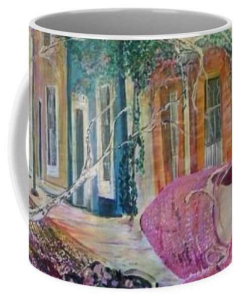 Shoes Coffee Mug featuring the painting Searching by Peggy Blood