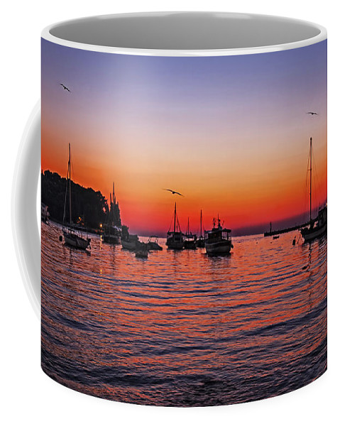 Seascape Coffee Mug featuring the photograph Seascape Silhouette by Madeline Ellis