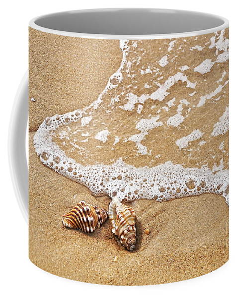 Photography Coffee Mug featuring the photograph Seashells And Lace by Kaye Menner