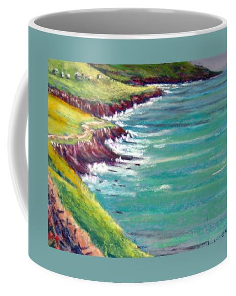 Marsh Coffee Mug featuring the painting Seaside Path by Julia Rietz