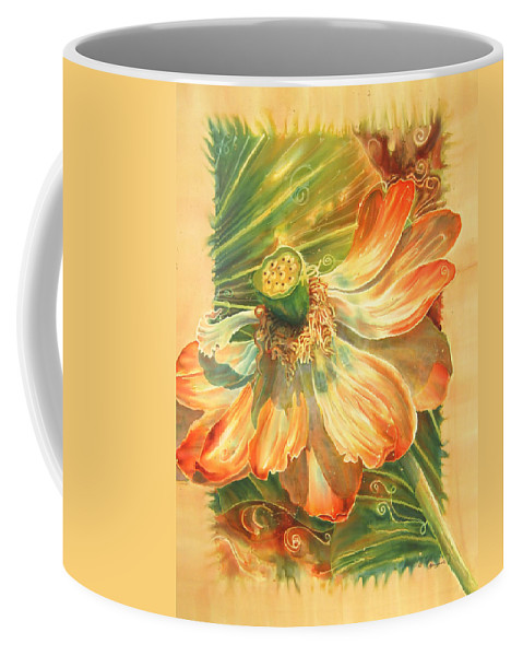 Flower Coffee Mug featuring the painting Season's End by Deborah Younglao