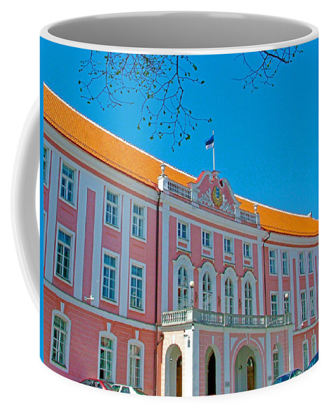 Seat Of Parliament In Old Town Tallinn Coffee Mug featuring the photograph Seat Of Parliament In Old Town Tallinn-estonia by Ruth Hager