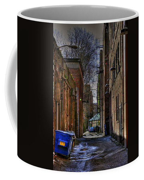Pioneer Square Seattle Coffee Mug featuring the photograph Seattle Alleyway by David Patterson