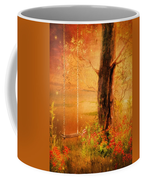 Fantasy Coffee Mug featuring the digital art Secret Gardens Fantasy by Georgiana Romanovna