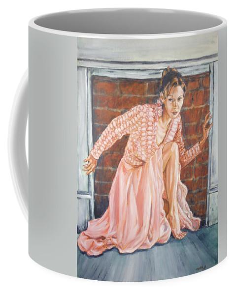 Blonde Coffee Mug featuring the painting Secret Passage by Bryan Bustard