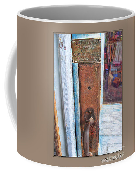 Arcitecture Coffee Mug featuring the photograph Security by Debbie Portwood