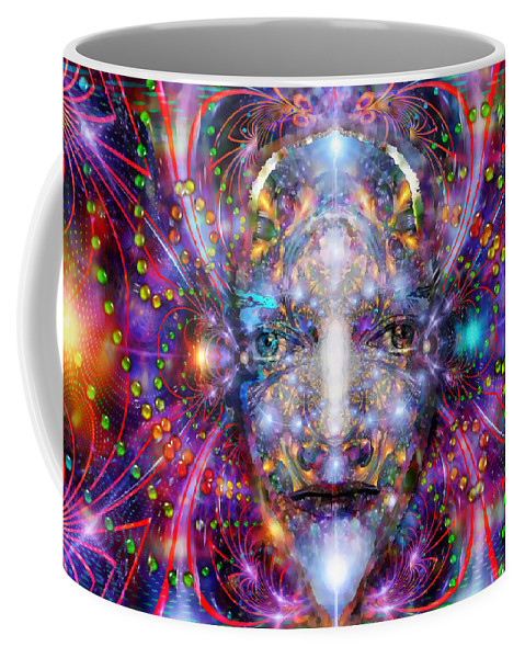 Ayahuasca Coffee Mug featuring the digital art Seeing In A Sacred Manner by D Walton