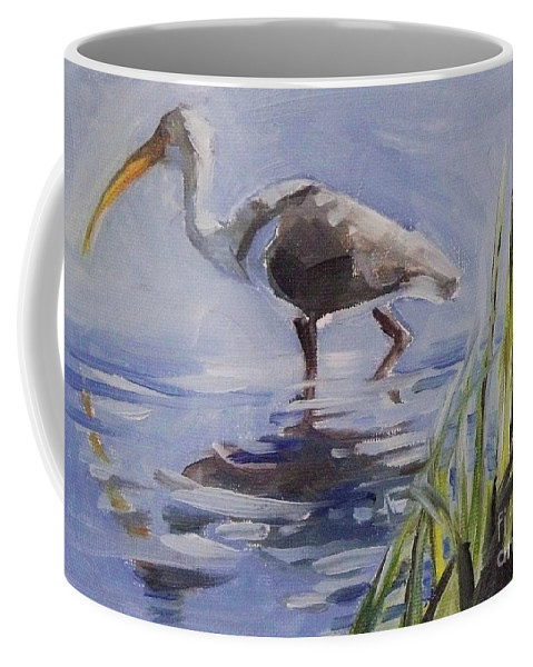 Doodlefly Coffee Mug featuring the painting Seeking Fish by Mary Hubley
