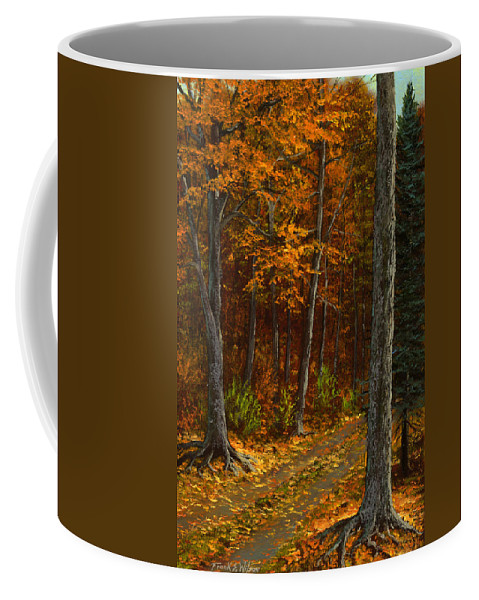 Landscape Coffee Mug featuring the painting Seldom Used by Frank Wilson
