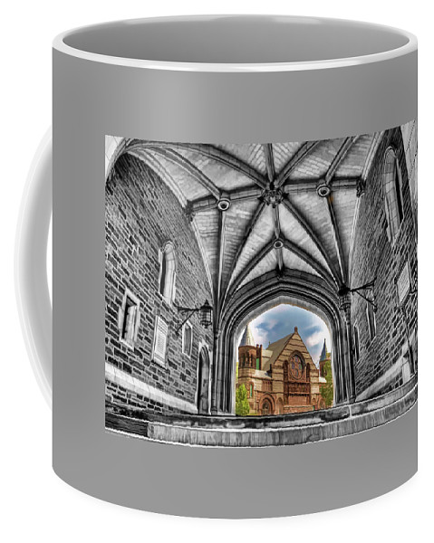 Recent Coffee Mug featuring the painting selective colors Princeton University by Geraldine Scull