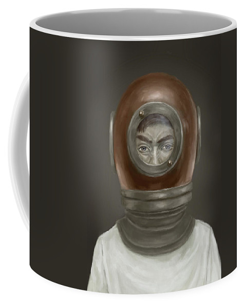 Digital Coffee Mug featuring the digital art Self Portrait by Balazs Solti