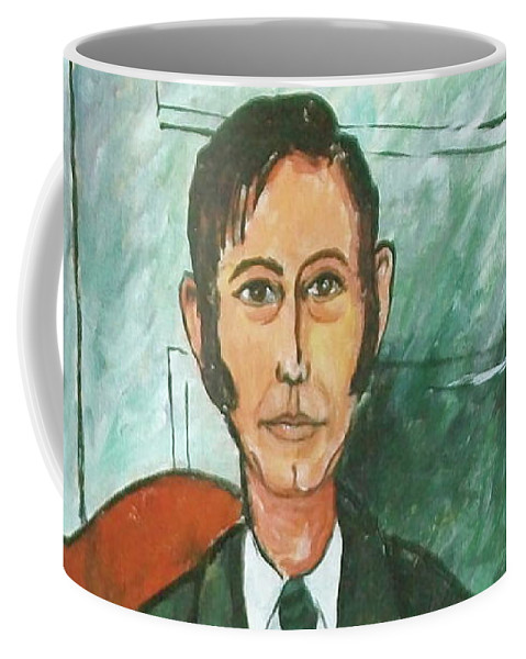 Me Frank Hunter Coffee Mug featuring the painting 1st Self Portrait Age 33 by Frank Hunter