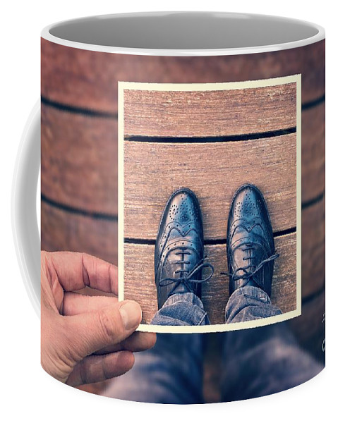 Selfie Coffee Mug featuring the photograph Selfie by Delphimages Photo Creations